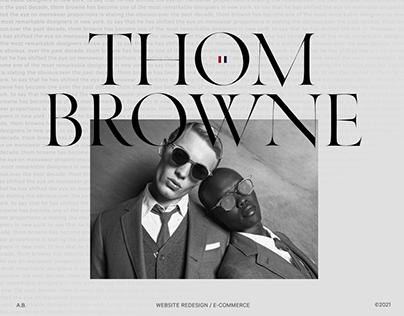Thom Browne | website redesign | 2021