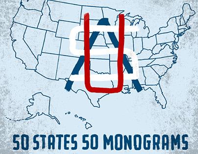 50 States 50 Monograms