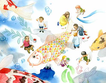 An Illustration for Children's Day in Japan