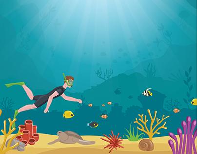 Plakát - pod mořem