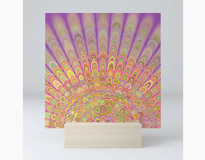 Happy Morning Mandala Mini Art Print
