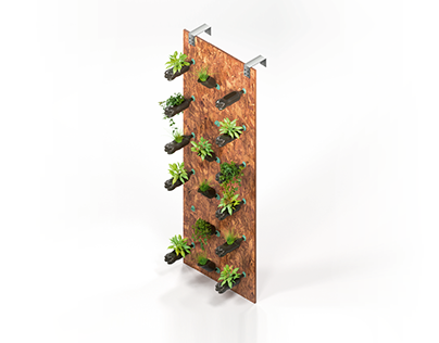Vertical Gardens with Recycled Plastic Bottles