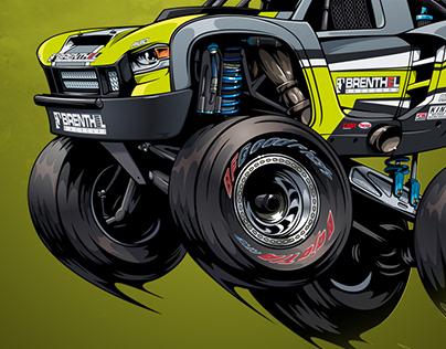 Jonathan Brenthel's truck illustration