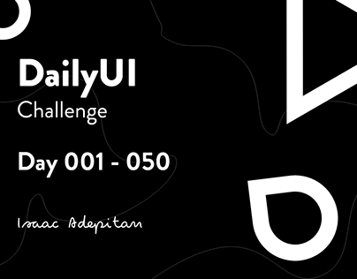 DailyUI Challenge (001 - 050)