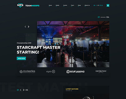 Webdesign for Team Moops.