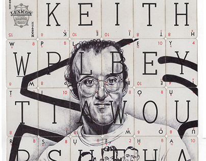 Keith Haring Ballpoint pen drawing