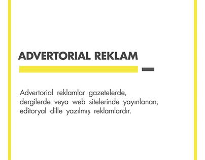 Ajans Terimleri : #AdvertorialReklam