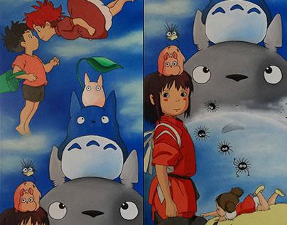 Studio Ghibli Oil Painting
