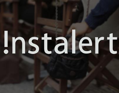 !nstalert UI/UX Design and Branding