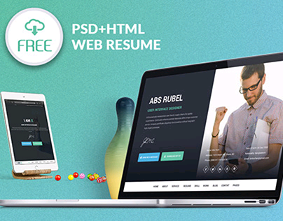 I-AM-X Freebie web resume template (PSD+HTML)