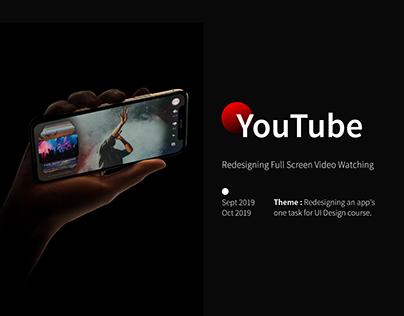 YouTube Full Screen Video Watching