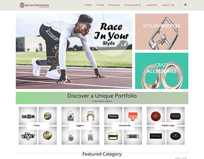 Shoe Startup Website Design