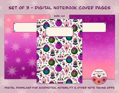 Digital Planner Cover Pages