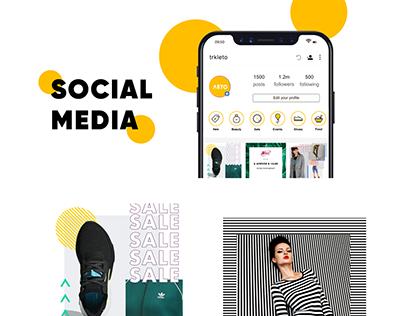 Social media, SMM дизайн ТЦ «Лето»
