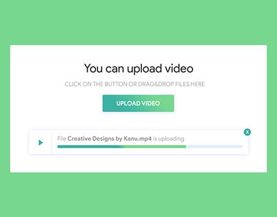 Video upload screen