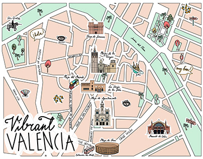 Illustrated Map of Valencia