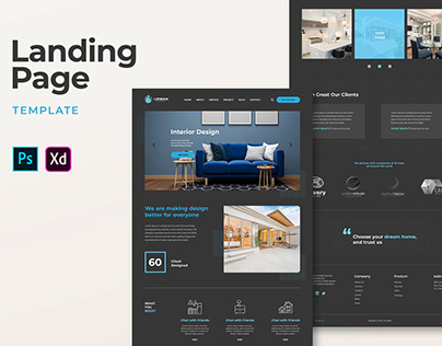 Landing Pages – Interior Design