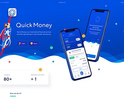 Quick Money (Money Transfer App) UI/UX Design