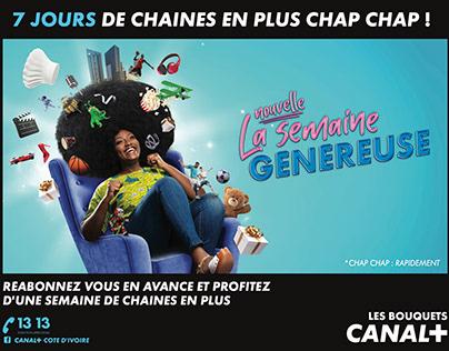 SEMAINE GENEREUSE CANAL+