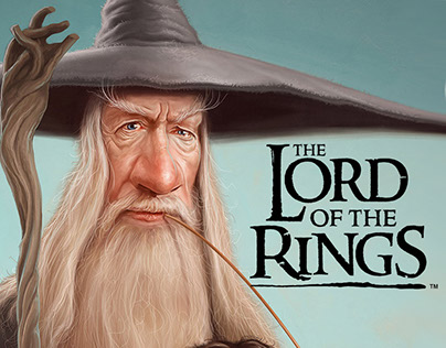 Caricature of Gandalf and Frodo - Lord of The Rings