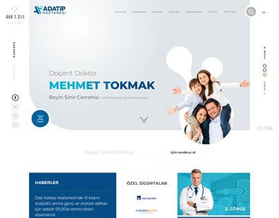 Medical - Adatip Hospital Brand - UI & UX Design - Web