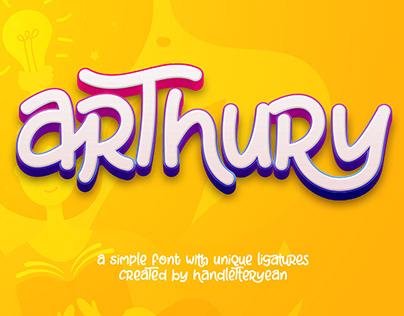 Arthury - a simple font with unique ligatures