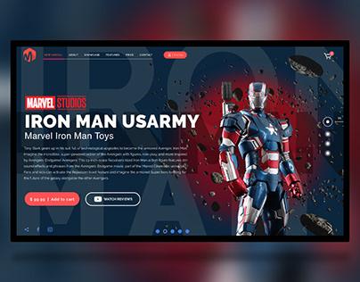 IronMAN toys | AdobeXD freebie | Free landing XD