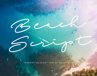 BEACH SCRIPT - FREE HANDWRITTEN FONT