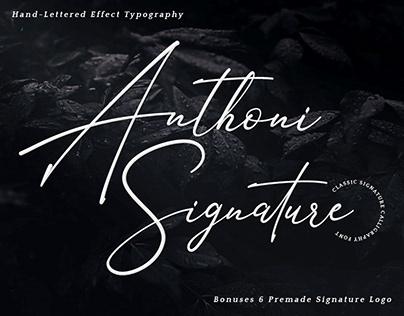 Anthoni Signature Free Font Demo