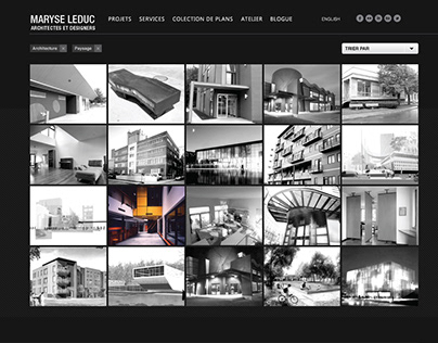 Maryse Leduc architecte et designer, site web