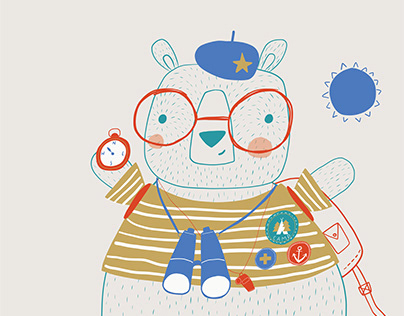 Wilderness Bear Illustration
