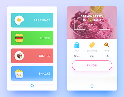 UX FoodBox Mobile app & Packaging - Full Journey