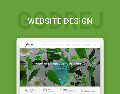 Godrej Group Corporate Website Design