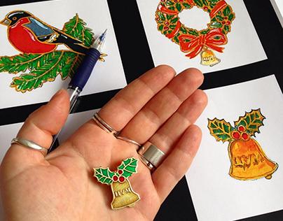 Christmas Pin.