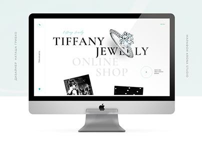 Дизайн первой страницы сайта Tiffany Jewelly/Web-design