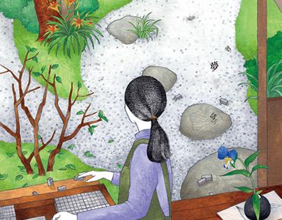 活版印刷三日月堂-第三部 / 書封插畫 illustration for book cover