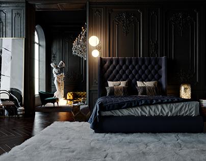 Classy Dark Bedroom