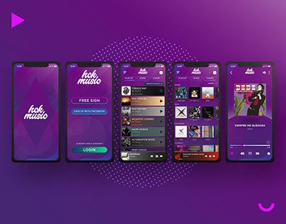 HCK Music' UI/UX Design