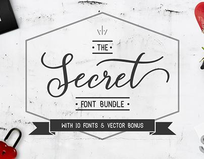 The Secret Font Bundle (10 FREE Commercial Fonts)