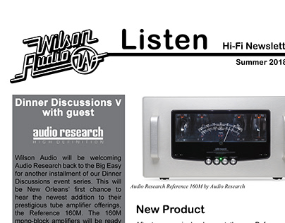 Wilson Audio Newsletter Redesign