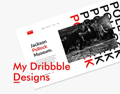 My Dribbble designs