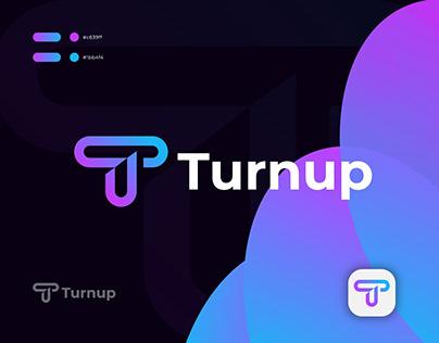 Turnup Logo Design, T Modern Logo Mark.