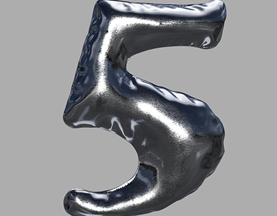 3D Model Balloon Number