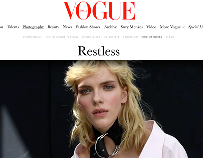 RESTLESS FOR VOGUE ITALIA