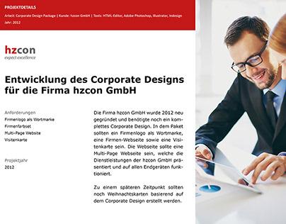 Case Study - Corporate Design Package hzcon GmbH