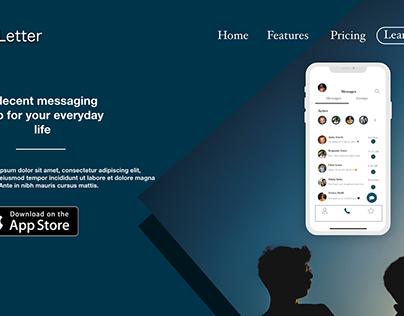 Letter App UI/UX Interface