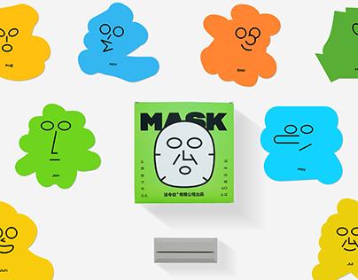 Character mask calendar