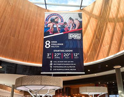 F45 Training Hanging Banner
