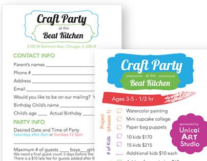 Beat Kitchen Craft Party
