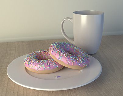 Morning Breakfast - 3D Modeling Practice